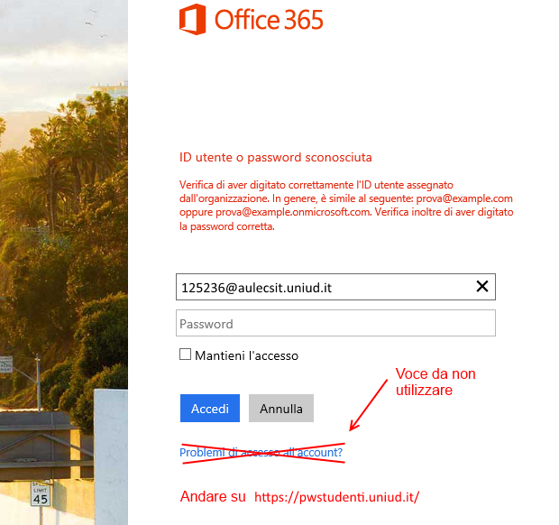 Office 365 cambio PW