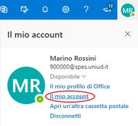 Cambio di password Spes da portale Office 365