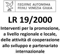 edit L.R. 19/2000 Interventi per la promozione, a livello regionale e locale, delle attività di cooperazione allo sviluppo e partenariato internazionale.